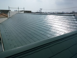 サーモアイF4屋根塗装施工後