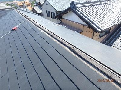 貫板を取り外した屋根