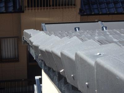 平板瓦の補修前の様子