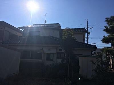 外壁塗装工事をするお宅の施工前の外観写真