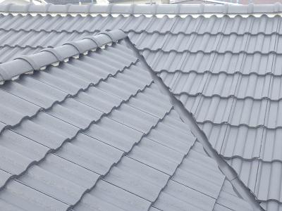 屋根の工事の様子
