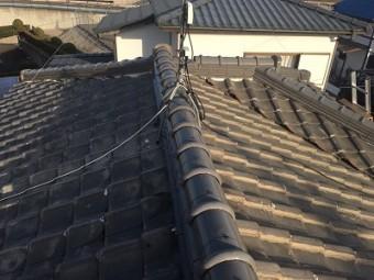 定期点検にお伺いした時の大屋根の状況
