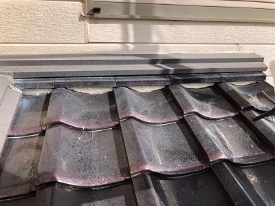 稲沢市で劣化した漆喰のお家の屋根リフォームを行いました