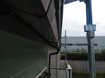 定期点検での雨樋の様子