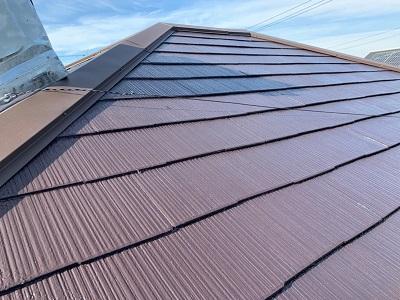 ストレート屋根の様子
