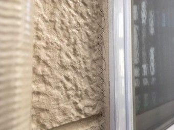 外壁現地調査のシーリングの劣化の様子