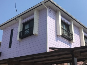 外壁塗装工事の完工写真
