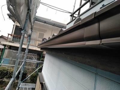 雨樋に歪みが生じたお宅の雨樋交換工事完工の様子