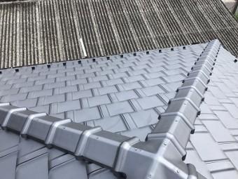 平板瓦への葺き替え工事の完工写真