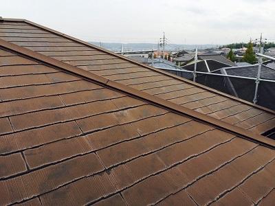 カバー前の屋根