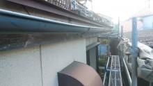 築三十年のお宅の雨樋の交換工事施工前の様子