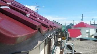 築三十年のお宅の雨樋の交換工事の金具の様子