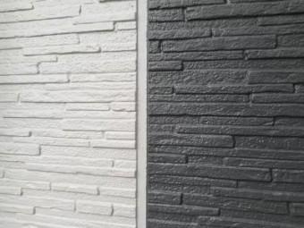 外壁サイディングで綺麗な線を描いた写真