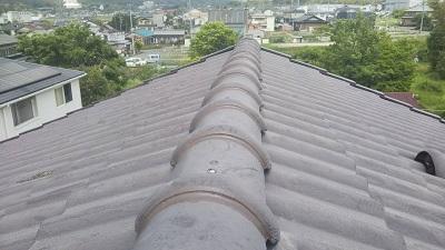 強風で屋根瓦が落下したお宅の施工後の様子