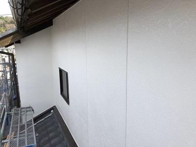 外壁塗装完工の様子