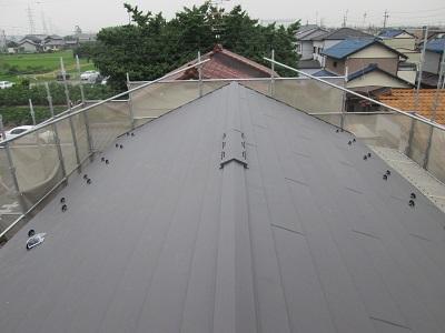 葺き替え後の屋根全体