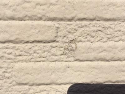 外壁の塗膜の剥がれの様子