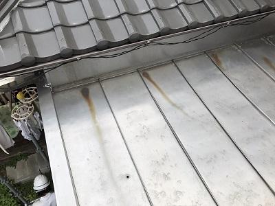 守山区で以前大屋根の施工をしたお宅の下屋根