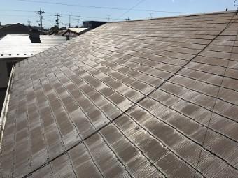 春日井市六軒屋町の屋根の全体写真