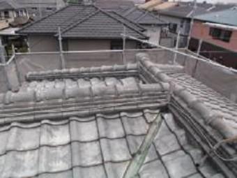 和瓦屋根の葺き替え前の状態