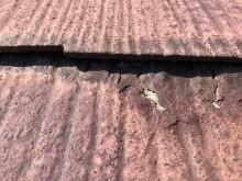 台風の影響で天井に雨染みができたお宅の様子