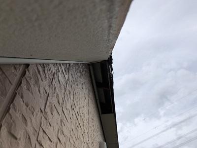 台風で破風板金が落下飛散してしまったお宅の様子