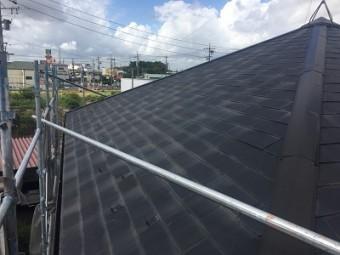 コロニアル瓦の屋根の様子