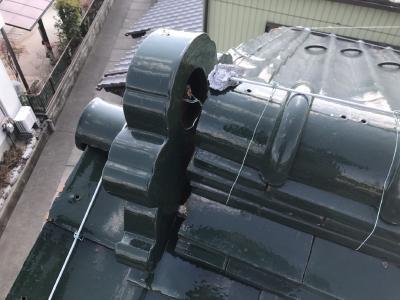清須市のお宅にて漆喰が傷んでいた為現地調査に伺いました。