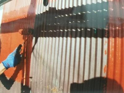 北名古屋市 トタン サビ止め塗布