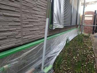 外壁塗装 養生作業 マスキングテープ