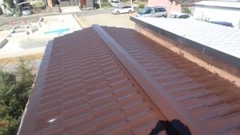 トタン屋根塗装施工後の写真