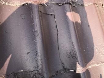 瓦の補修工事のお宅の屋根の様子