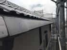 特殊な角樋を交換の施工前の様子