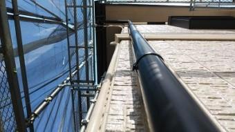 特殊な角樋を交換の施工後の様子