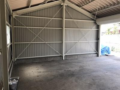 アスベスト撤去後の車庫