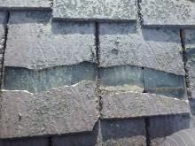 屋根の補修前の様子