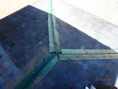 棟を解体した後、棟垂木を新設