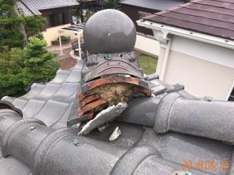 屋根の健康診断での大屋根の様子