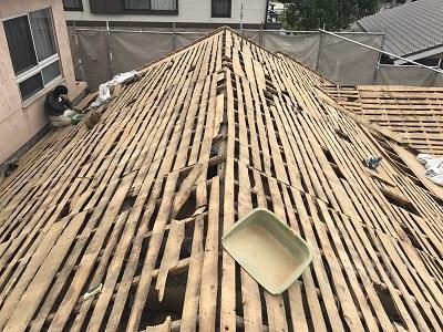 和瓦屋根の骨組