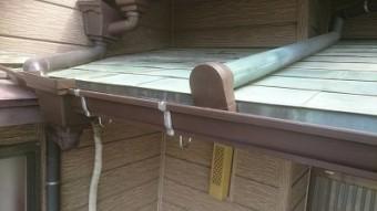火災保険を活用して施工した雨樋