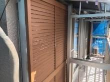 外壁塗装工事完工の様子