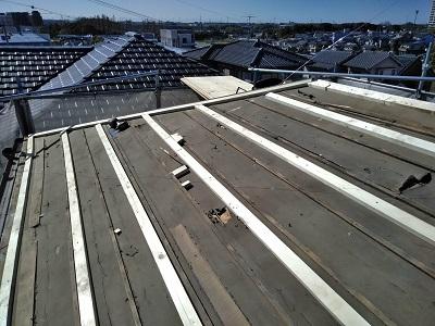 解体が完了した大屋根の様子