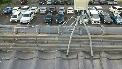 台風被害にあったお宅の屋根修繕工事完工の様子