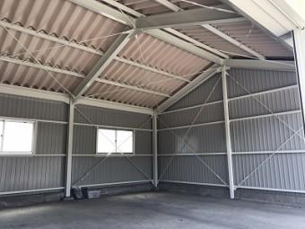 完工後の車庫