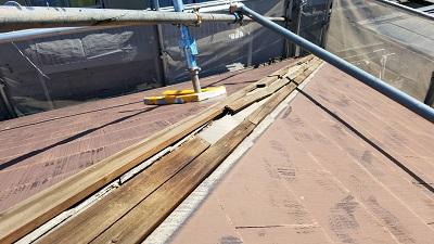 施工前の貫板