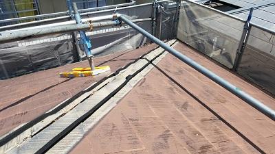 防水シーラーを貼った施工箇所