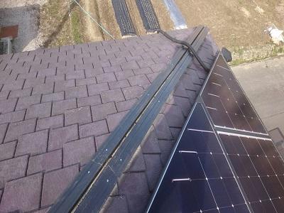 屋根の貫板を樹脂製の物と交換しました