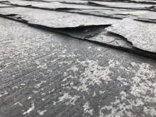台風被害をうけたお宅の屋根の様子