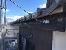 雨樋交換工事施工中の様子