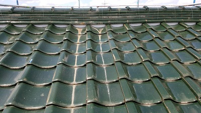 瓦止め前の屋根
